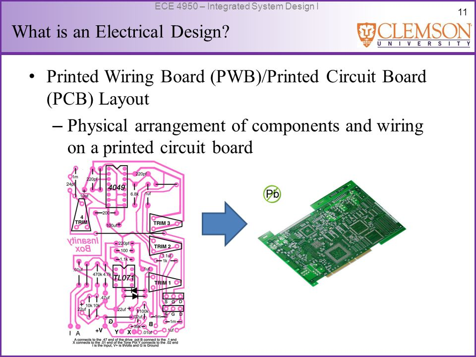 12 ECE 4950 – Integrated System Design I What is an Electrical Design.