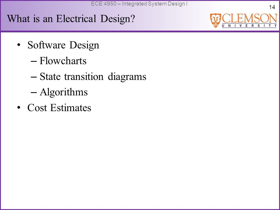 15 ECE 4950 – Integrated System Design I What is an Electrical Design? Prototype