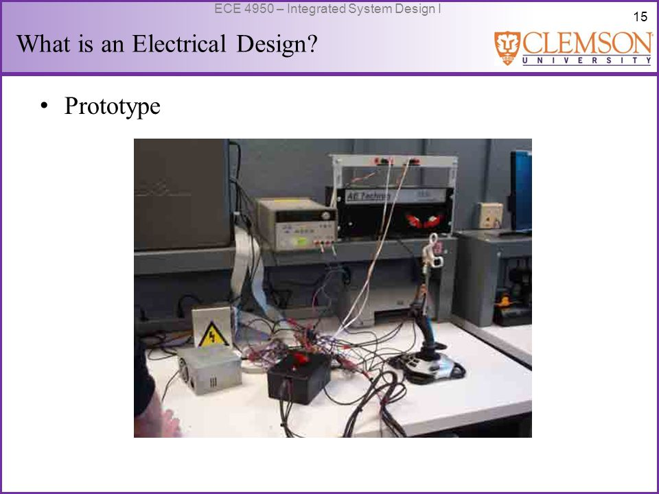16 ECE 4950 – Integrated System Design I What is an Electrical Design.