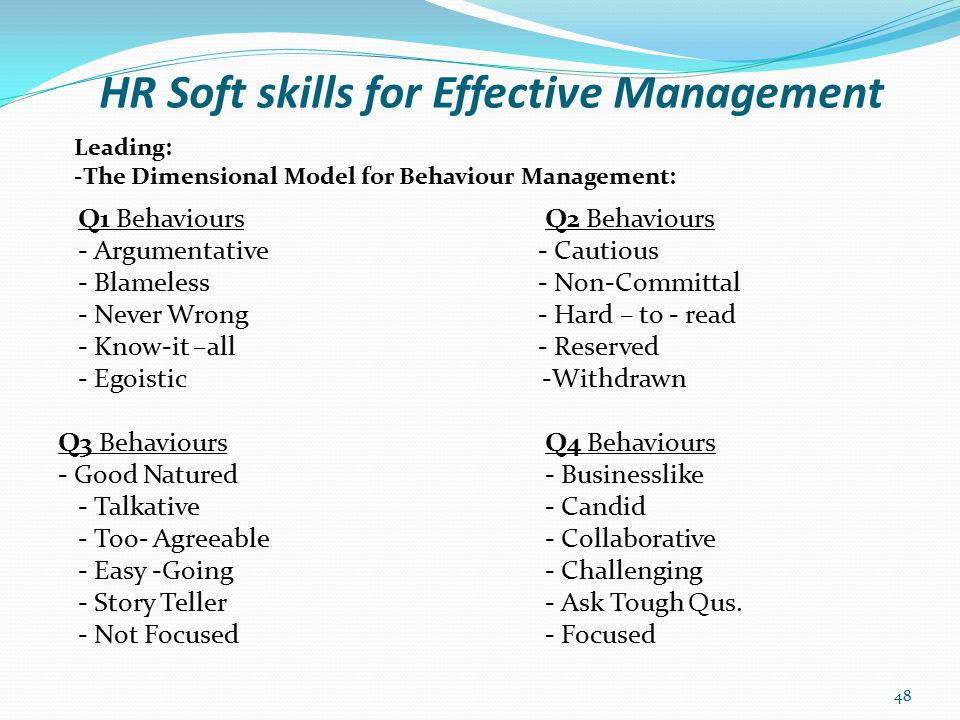 HR Soft skills for Effective Management Session Two: Key Management Process Cont'd Key Management Process - Controlling Course Evaluation Close of Programme 49