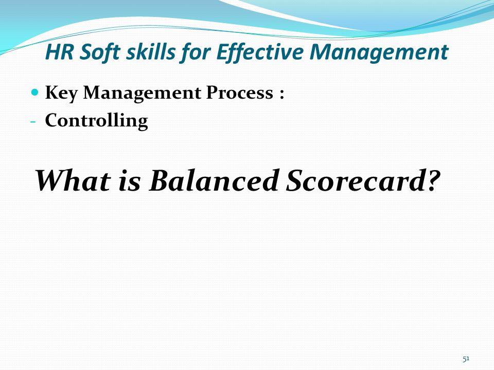 HR Soft skills for Effective Management What is Balanced Scorecard.