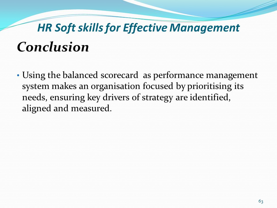 HR Soft skills for Effective Management Thank you 64