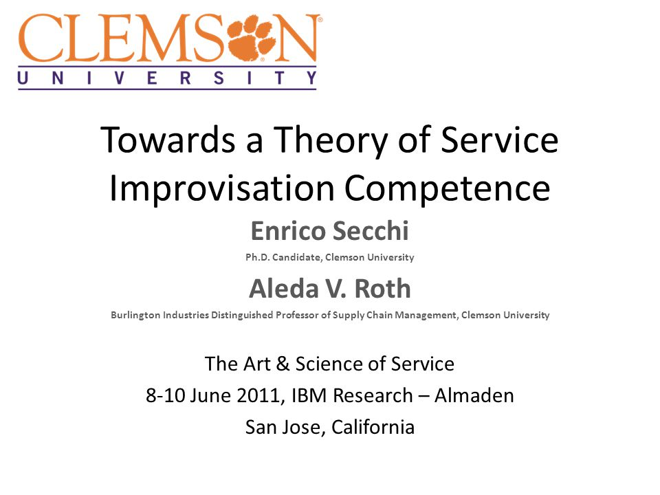 Service Improvisation Competence TM The aggregate ability of the firms' employees to deviate from established service processes in order to timely respond to unanticipated events, using the available resources.