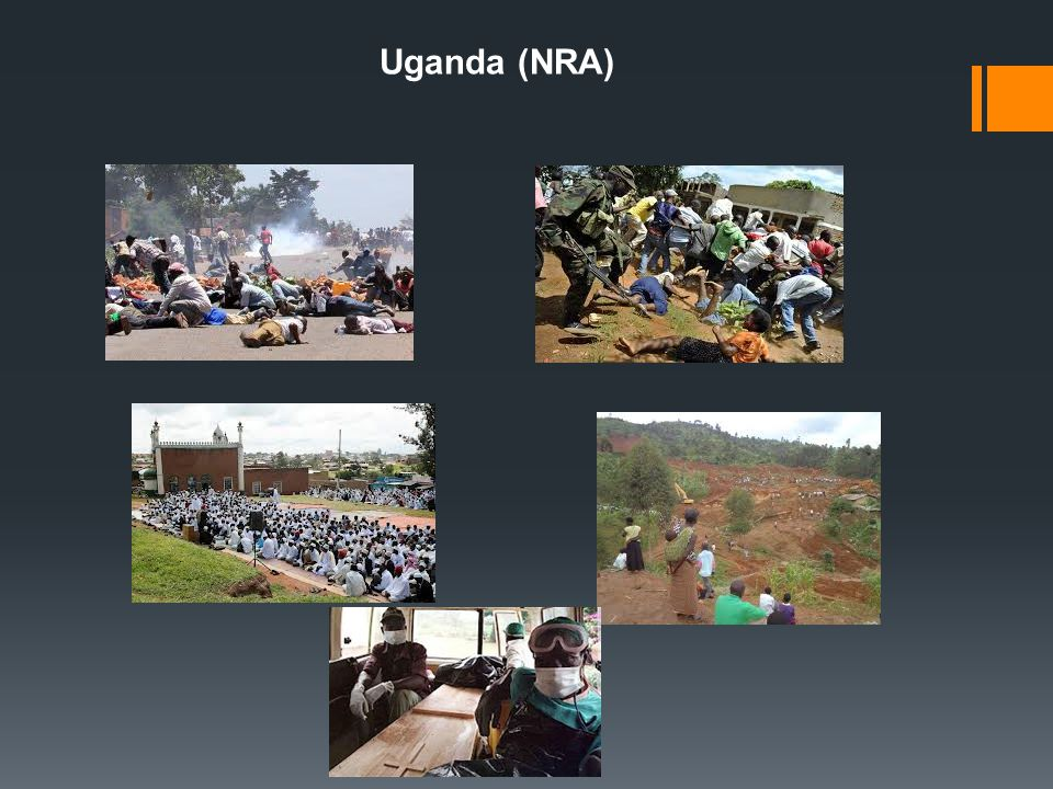 Empirical evidence: comparing /contrasting rebel groups in Africa Links between resource bases & membership profiles and strategies  NRA (Uganda); social (promise of future econ gains and pol positions); grew from 27 to 4000/2 yrs; initially ethnically cohesive (2 ethnic groups), then expanded by pol (rather than ethnic) allegiances; common objective: to end ethnic tribalism and defeat the Obote regime; used info gathering and costly induction  Renamo (Mozambique); econ, guerilla camps in Rhodesia, steady foreign assistance; heterogenous, no pol platform until 10 yrs after its founding; when Rhodesia collapsed, 90% recruited by forceful coercion; no social or pol bonds=no ability to recruit voluntarily; less than 3% had edu; 20,000 members; leadership allowed to loot public & private property; became involved in ivory trade and started extorting multinationals in exchange for security guarantees Main contrast in the type of recruits: NRA – high-committed individuals, social ties, common grievances, future gains Renamo – low-committed, only as long as rewards lasted, then retained by forced coersion