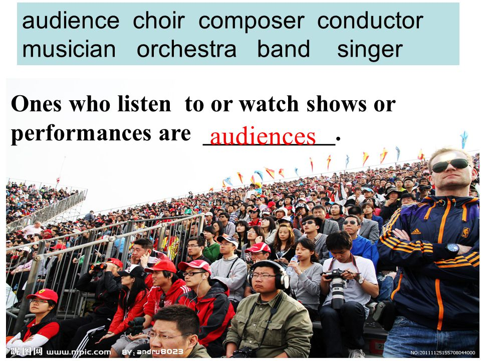 audience choir composer conductor musician orchestra band singer