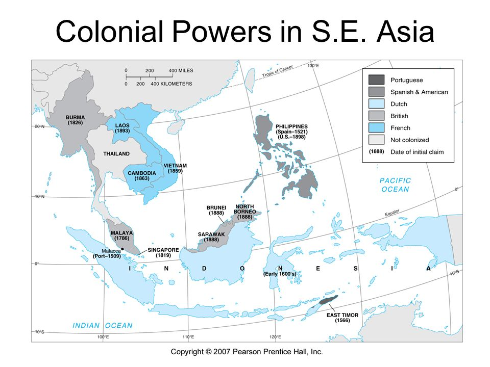 Bases of Colonial Power Technological and military advantages coincident with the industrial revolution Jared Diamond's arguments re: geographical accidents, such as the impact of diseases on local populations, and the timing of technological achievements Political strengths due to the Western legal and economic system & property rights The Historiography of Conquest: note the cases are historically and geographically specific – Latin America, North America, Africa, The Arab World, South & East Asia, Southeast Asia, Oceania