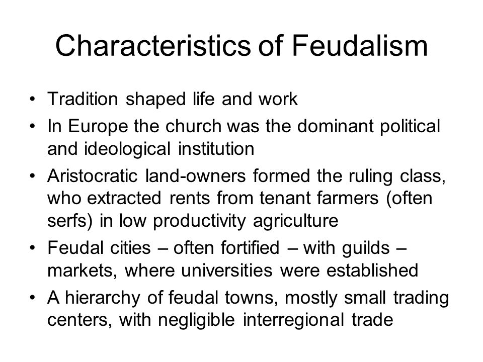 Serfs working on their lords farm, not earning wages, but paying a large share of their output as rent in return for the right to keep some output for their own consumption