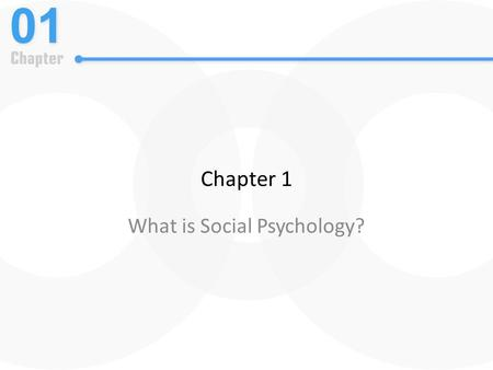 Chapter 1 What is Social Psychology?. What Is Social Psychology?