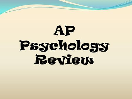 Knowledge Understanding of the Test Motivation Time/Effort Confidence Result Success on the AP Psychology Exam.