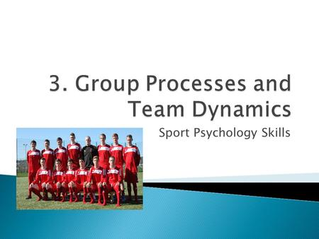 Sport Psychology Skills.  To understand the differences between teams and groups  To explore group roles and group norms  Review social phenomenon.