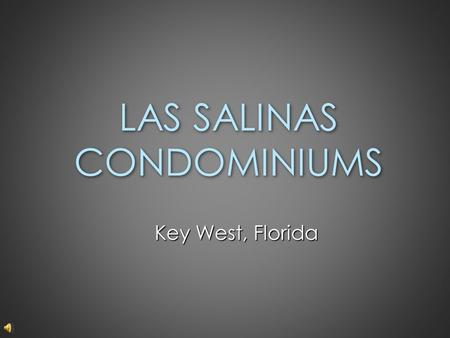 LAS SALINAS CONDOMINIUMS Key West, Florida. Featuring: A Sprayed Polyurethane Roof System Applied To Concrete.