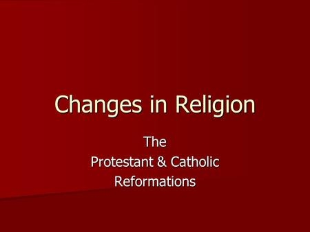 the changes in the roman catholic church during the age of transformation in western europe Roman catholic era medieval period  western medieval roman church said, god wills it  conversion of northern europe by the latin western church was completed .