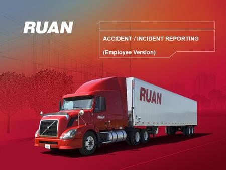ACCIDENT / INCIDENT REPORTING (Employee Version).