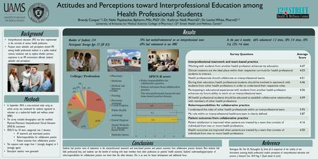 Results Conclusions Students had positive views of statements in the interprofessional teamwork and team-based practice and patient outcomes from collaborative.