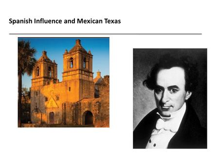Spanish Influence and Mexican Texas. Spain wanted to settle Texas, but our state's geography discouraged the Spanish people from wanting to settle here.