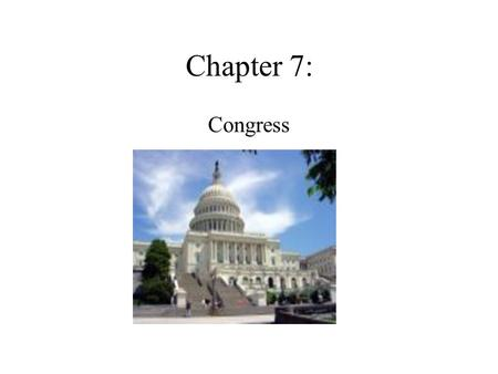 Chapter 7: Congress. Purposes of Congress Rule initiation Interest representation Rule application Rule Interpretation Constituency Service.