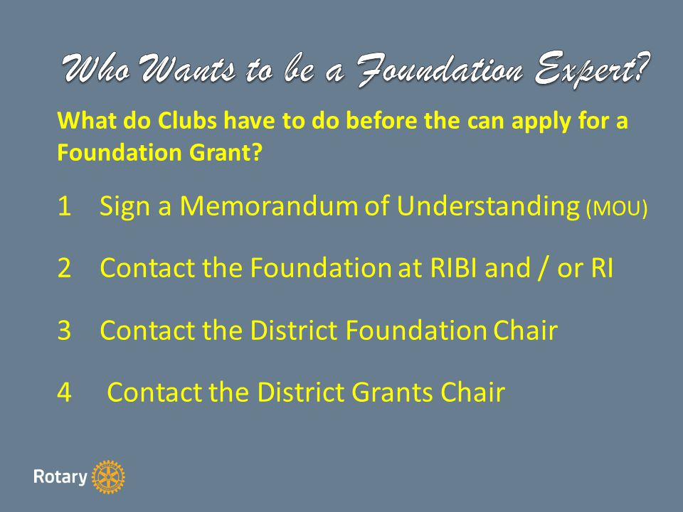 When do District Grant Applications have to be with the District Grants Officer for 2014/2015.