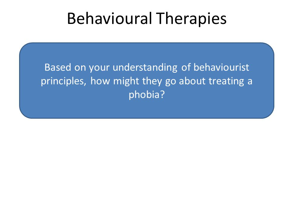 Systematic desensitisation is based on the behaviourist assumption that the phobia has been learned wither through association (classical conditioning) or reinforcement (operant conditioning) and so can be unlearned based on the same principles.