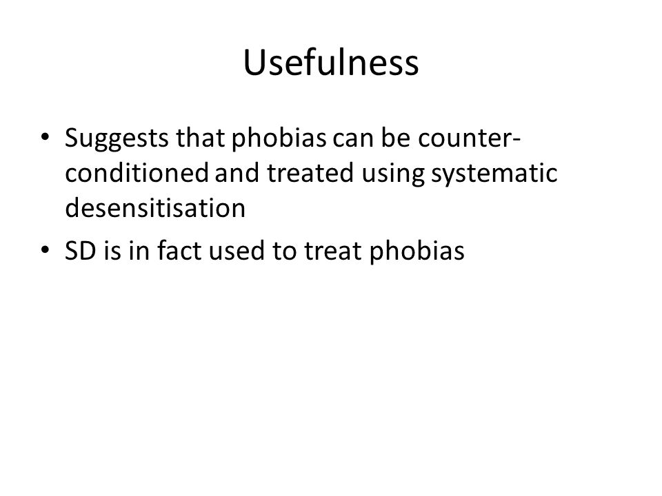 You have 2 useful info hand outs The first one is a diagram that you should keep for your revision as it sums up the behavioural approach to phobias very neatly The second one is an overview of the therapies used by behavioural psychologists and you can use it to help you with the following task.