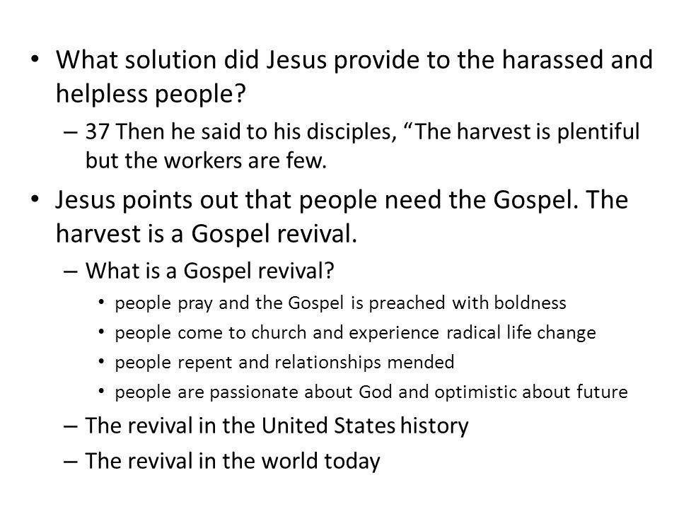 How does a Gospel revival start.