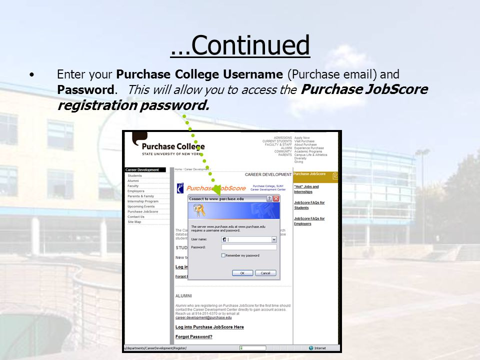 …Continued Once on the password screen, copy the password and select Register for the first time here