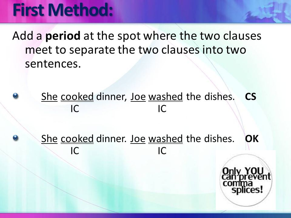 Add a comma and a coordinating conjunction between the two independent clauses.