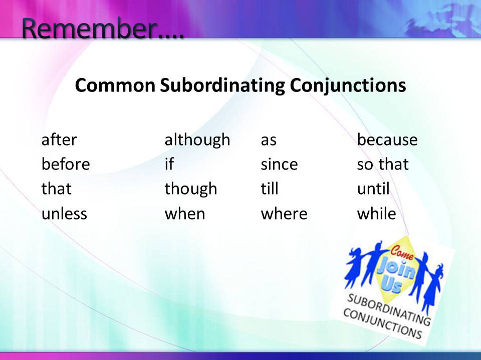 The Difference between Subordinating Conjunctions and Coordinating Conjunctions...