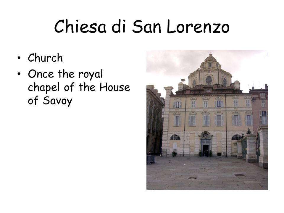 Palazzo Reale Once the home of the Royals (House of Savoy ; Prince Carlo Alberto)