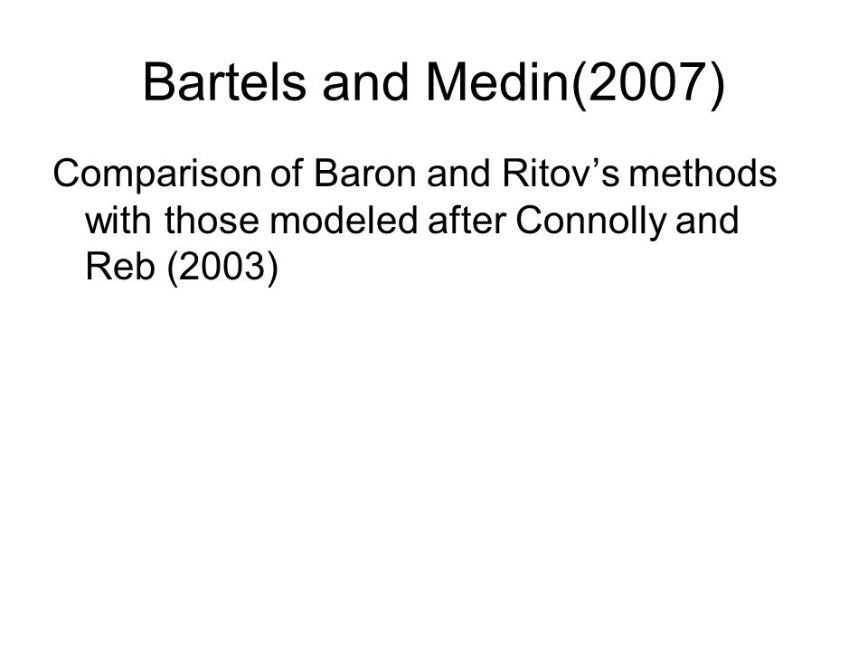 Baron and Ritov: As a result of a dam on a river, 20 species of fish are threatened with extinction.