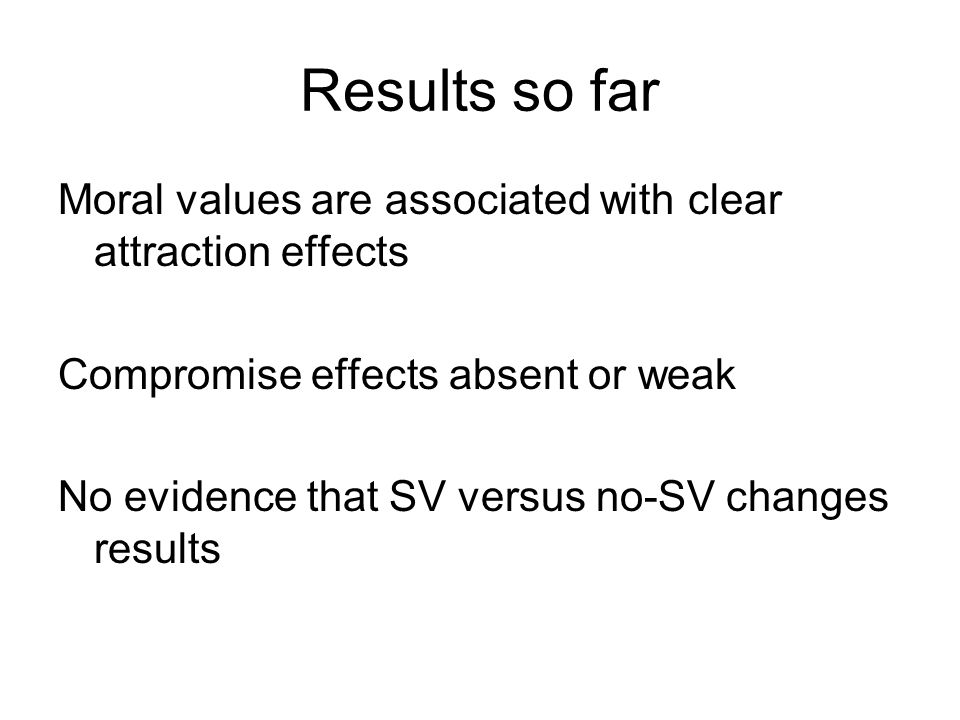 Interim Summary Two keys properties of SVs--tradeoff reluctance and insensitivity to quantity, are undermined by these studies.