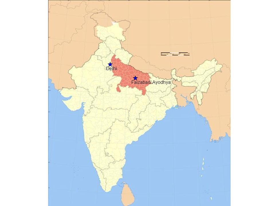 The Babri Masjid/ Ram Janmbhoomi debate Hindus believe this land to be the birthplace of an holy incarnation, Ram.