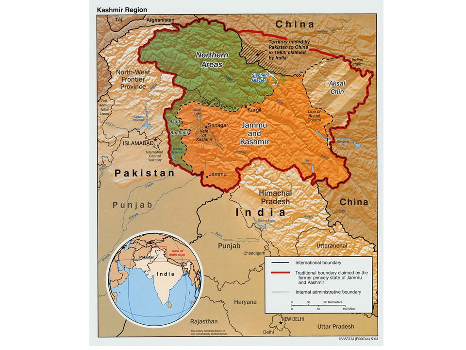 Kashmir Issue Began with the struggle for Muslim autonomy in the newly independent India and lead to the partition and creation of Pakistan Kashmir's Maharaja sought Indian assistance in 1947 when it was invaded by tribes people from Pakistan Three wars have been fought over Kashmir Currently, India holds two-thirds of Kashmir while Pakistan holds the rest