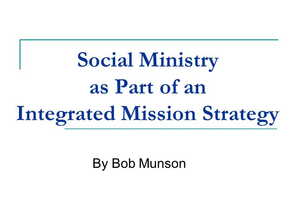 Don't Think of Spiritual and Social as Distinct Areas