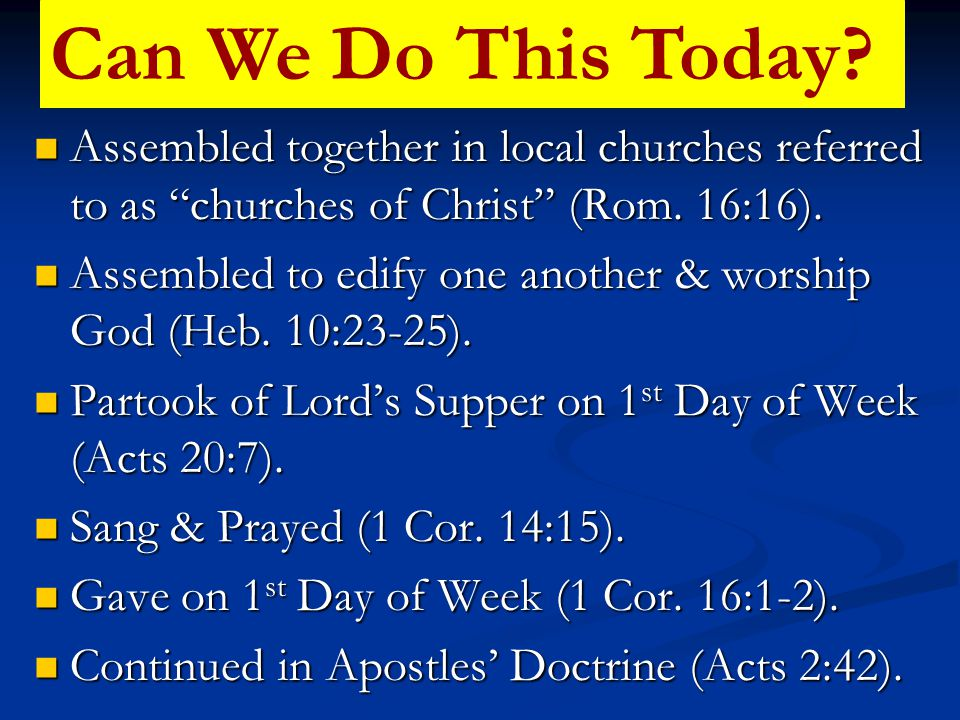 Why Belong To A Denomination.People Saved & Worshipped Before Any Denomination Ever Existed.