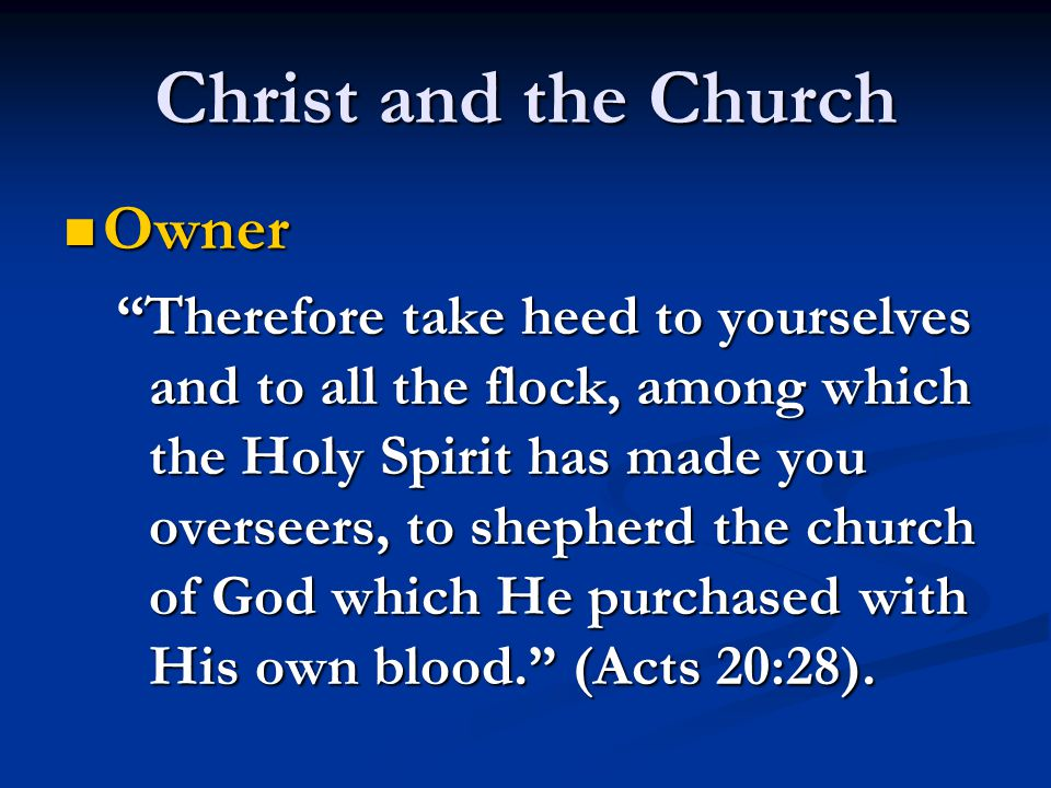 Christ and the Church Head and Savior Head and Savior For the husband is the head of the wife, as also Christ is head of the church; and He is the Savior of the body. (Ephesians 5:23).
