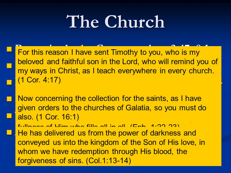 Apostasy Foretold 2 Thess.2:3-4; Acts 20:29-31 2 Thess.