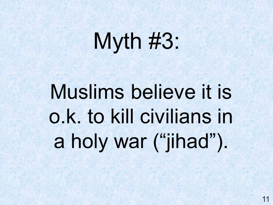 Reality : Only Muslim extremists believe this.