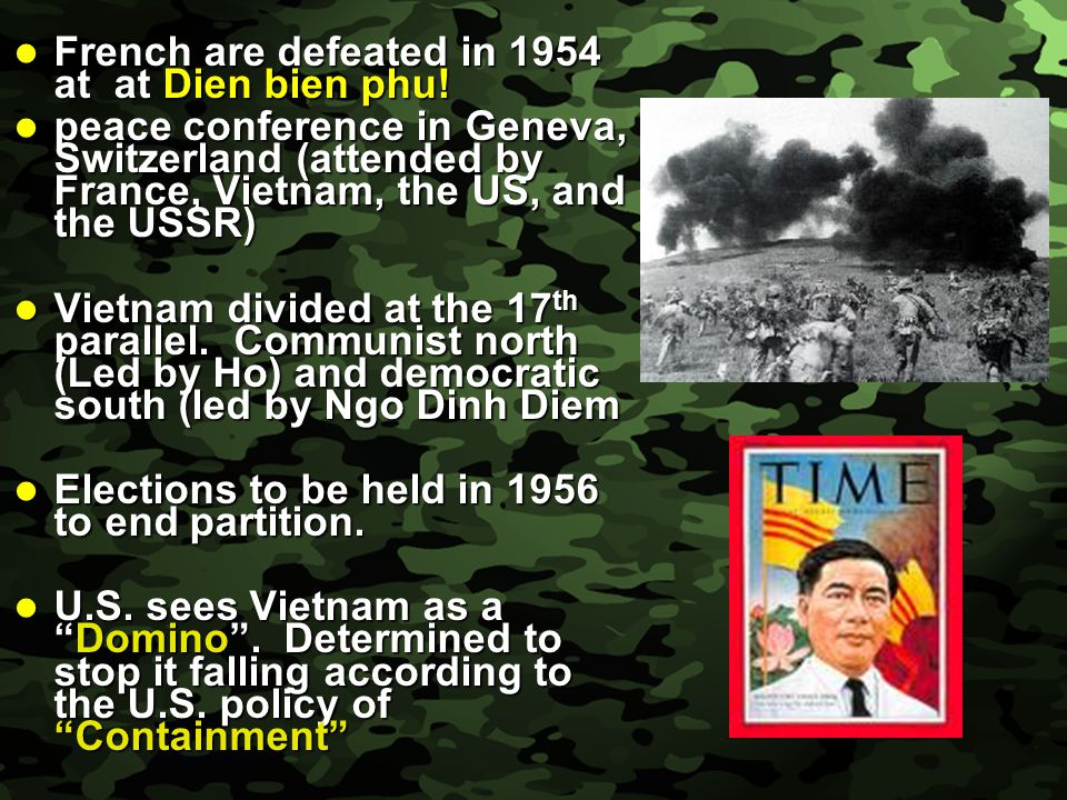 Slide 4 Estimated that 80% of Vietnamese would have voted for the communists –elections were never allowed to happen.