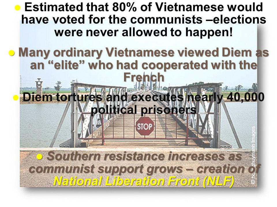 Slide 5 These Southern freedom fighters were also known as Vietcong