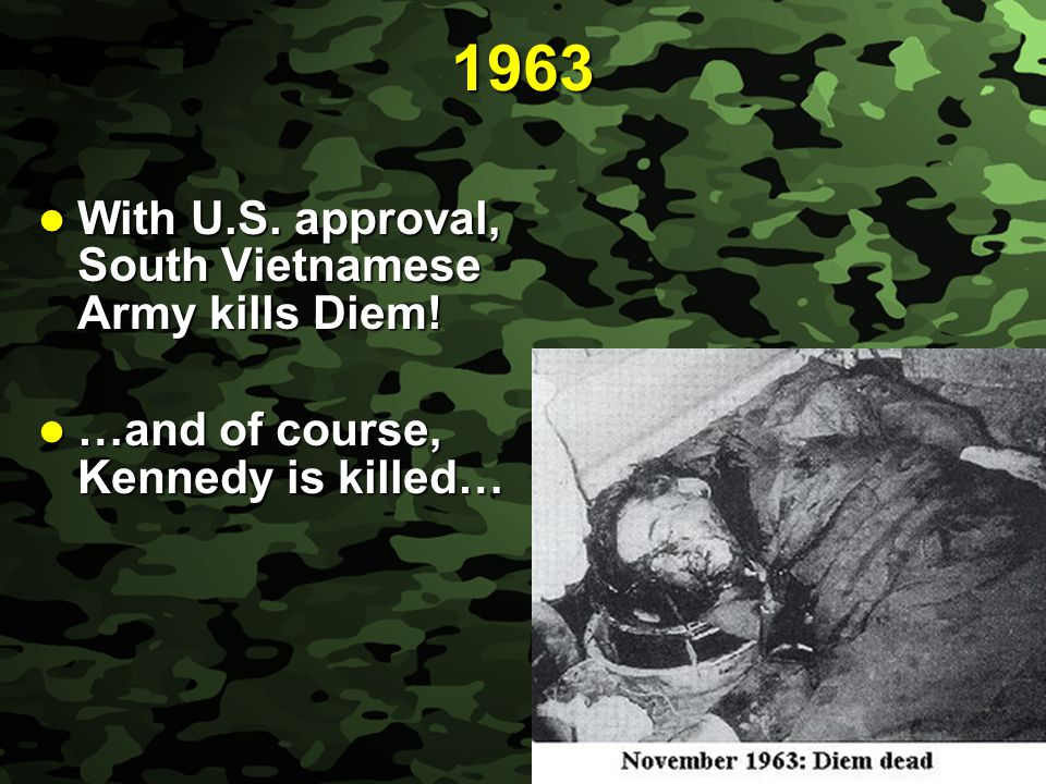 Slide 7 PHASE 2 – AMERICAN MILITARY INVOLVEMENT phase originated with phase originated with Ike and JFK but was intensified under Lyndon Baines Johnson (LBJ) 1964 Gulf of Tonkin Incident - 2 American destroyers supposedly fired upon by the North Vietnamese 1964 Gulf of Tonkin Incident - 2 American destroyers supposedly fired upon by the North Vietnamese Congress passes Gulf of Tonkin Resolutions Congress passes Gulf of Tonkin Resolutions - Congress gave LBJ their support in sending American personnel and materiel