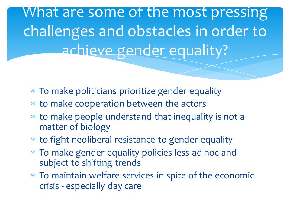  Sector 4 is addressing the obligation of public authorities to gender mainstream all laws and activities.