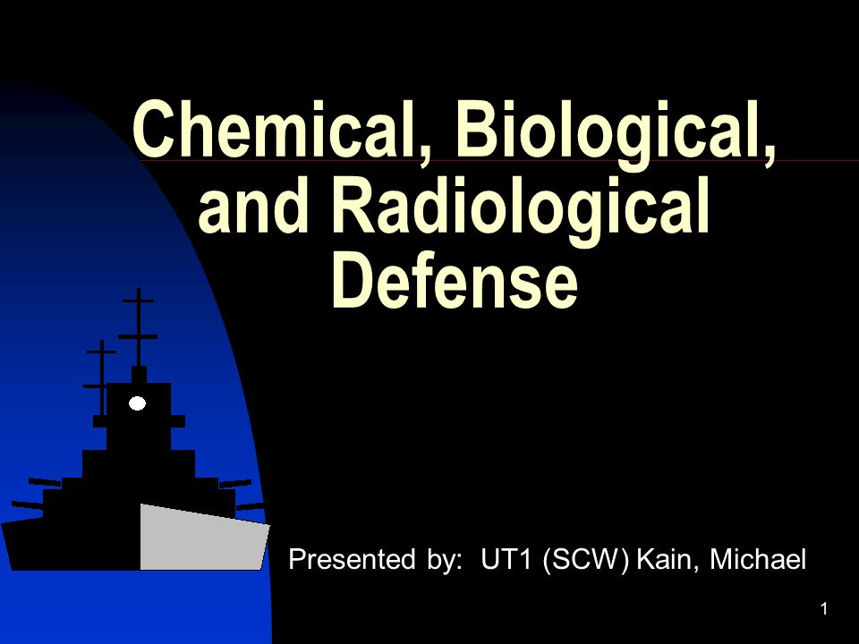 2 Introduction The Why of CBR Training WWI – Chemical Warfare Threat WWII – Nuclear Threat Present – Threat of all 3 put Navy into motion for Positive Defensive Posture against CBR