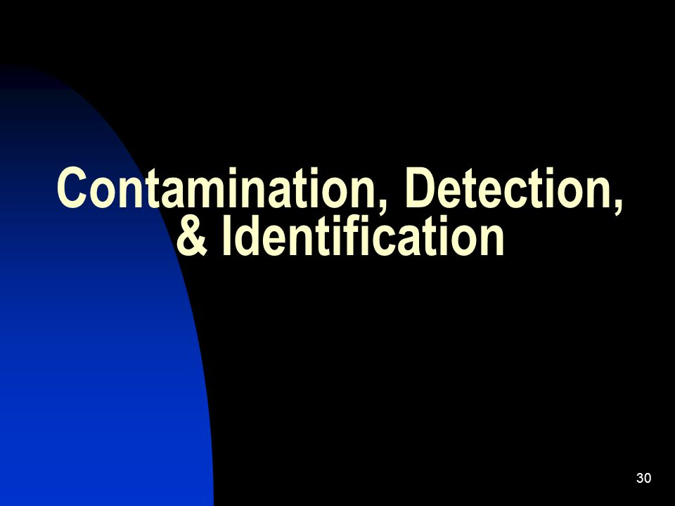 31 Learning Objectives 5 Identify the Purpose of CBR monitoring and decontamination teams Identify markers used to indicate CBR contamination Recall the purpose of the markers used to indicate CBR contamination