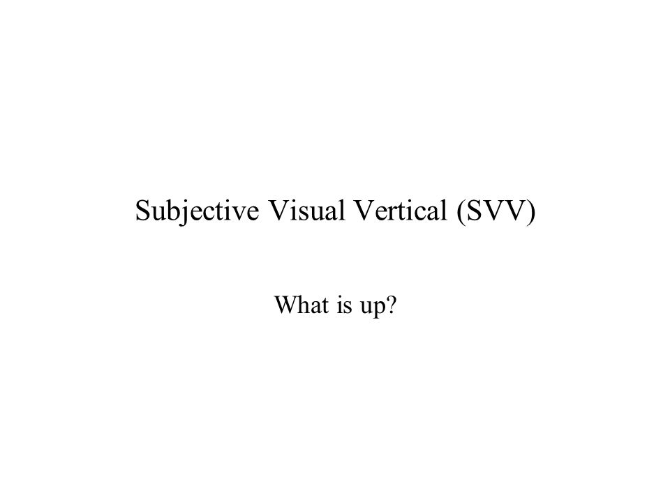 Systematic error in visual vertical classic interpretation