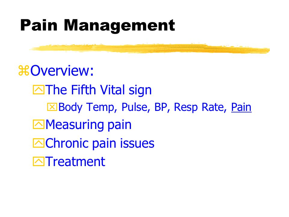 Measuring Pain zPsychophysiological Measures yElectromyography (EMG) —muscle tension and pain yIndicators of autonomic arousal — HR, etc.
