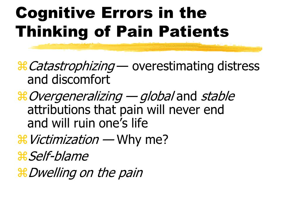 Reshaping Pain Behavior zIdentify the events (stimuli) that precede pain behaviors (responses) as well as the consequences that follow (reinforcers)