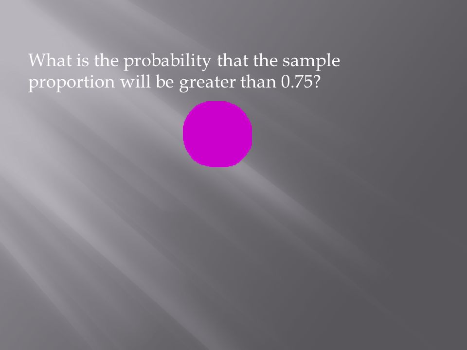 What is the probability that the sample proportion will be greater than 0.75?