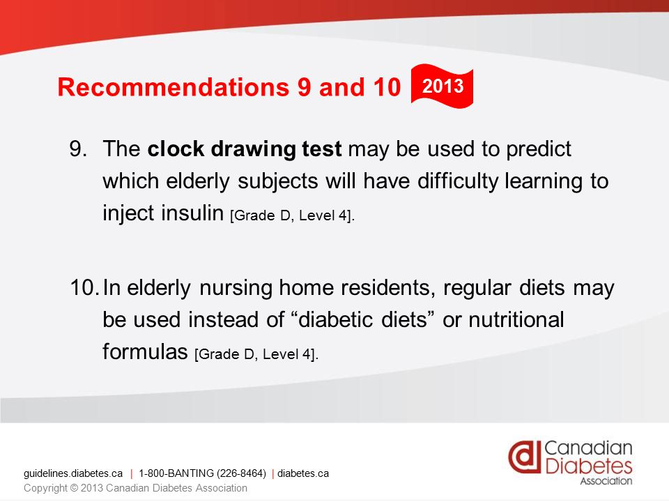 CDA Clinical Practice Guidelines www.guidelines.diabetes.cawww.guidelines.diabetes.ca – for professionals 1-800-BANTING (226-8464) www.diabetes.ca www.diabetes.ca – for patients