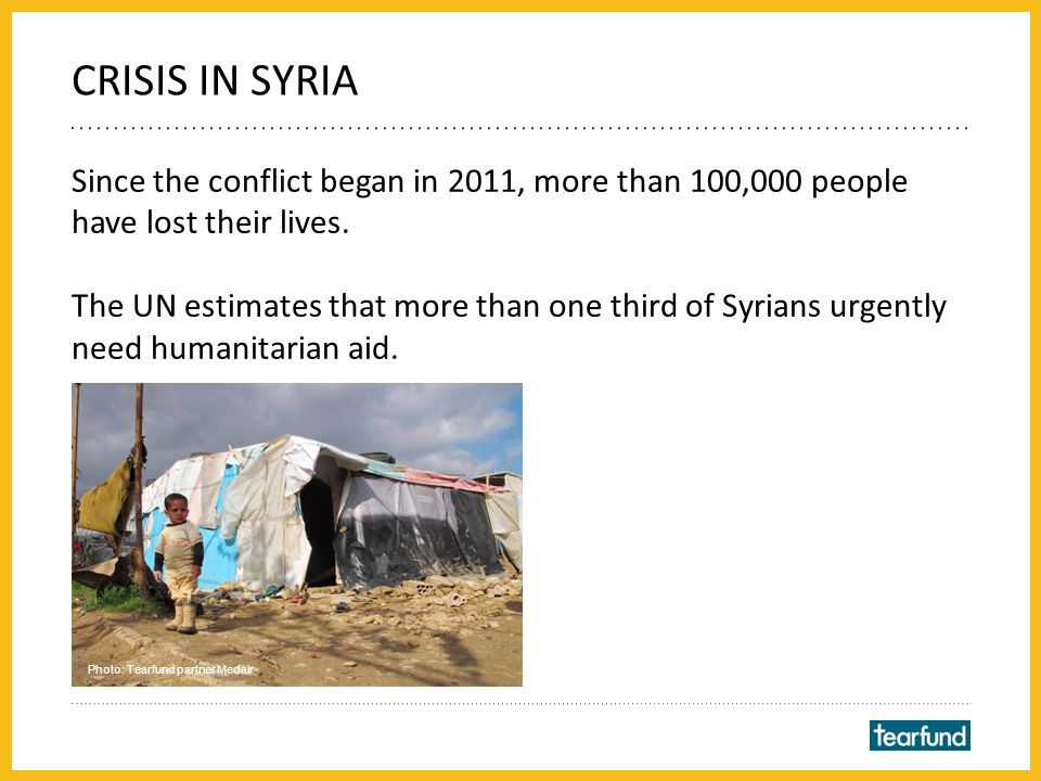 More than 2 million refugees have fled Syria to neighbouring countries such as Lebanon and Jordan.