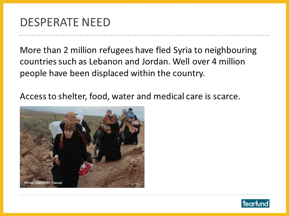 Half of those needing assistance are children. Photo: Tearfund partner Medair